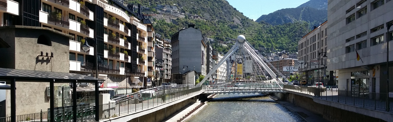 Paris Bridge in Andorra La Vella