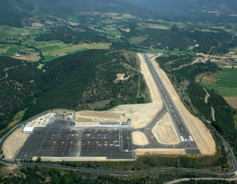 The airport at La Seu D`Urgell