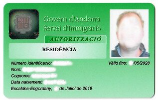 Andorra Residency Card